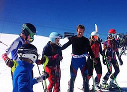 kids skiing ski school